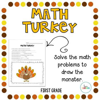 Create a Math Turkey: First Grade Thanksgiving Activity