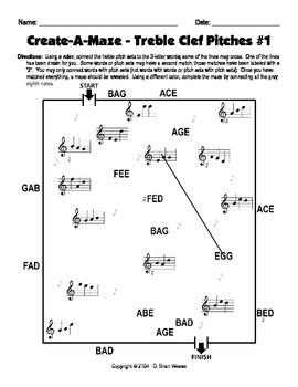 Create-a-Maze - Treble Clef Pitches 1