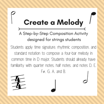 Create a Melody: A Step-by-Step Composition Activity for Strings