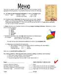 Create a Menu- Project for World Language