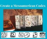 Create a Mesoamerican Codex (Aztec or Mayan)