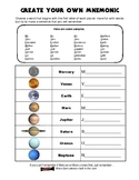 Create a Mnemonic for the Planets