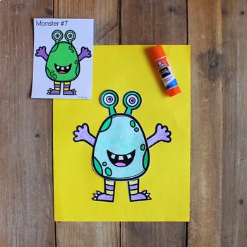 Create a Monster Activity: Build Fine Motor & Visual Discrimination Skills