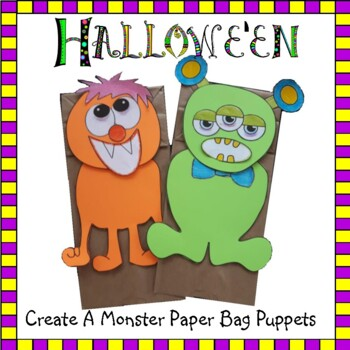 Create a Monster Paper Bag Puppets