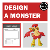 Create a Monster (like Pokemon) Descriptive Writing Activity (Distance Learning)