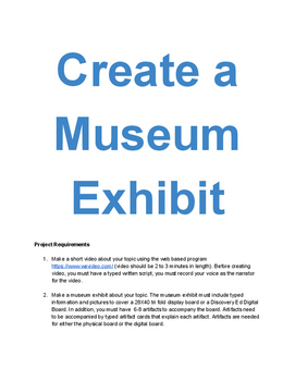 Create a Museum Exhibit