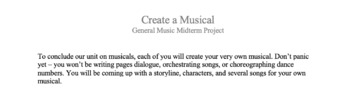 Create a Musical Project