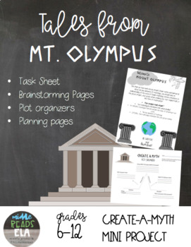 Create a Myth Greek Mythology Project