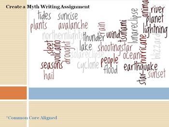 Narrative Writing - Create a Myth