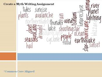 Narrative Writing - Create a Myth