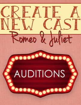 Create a New Cast for Romeo and Juliet, Characterization