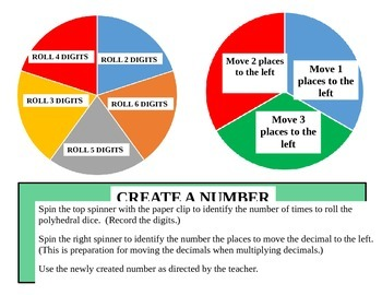 Create a Number (Decimal Practice)