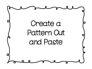 Create a Pattern Cut and Paste