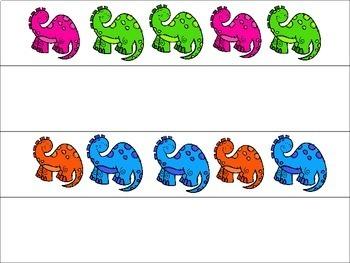 Create a Pattern Dinosaur Activity