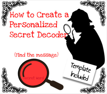 FREE Personalized Secret Word Decoder Tutoria -Great for Critical Thinking - GT