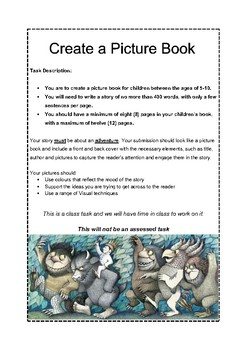 Create a Picture Book Task Sheet