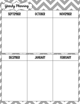 {Create a Planner} Yearly Planning