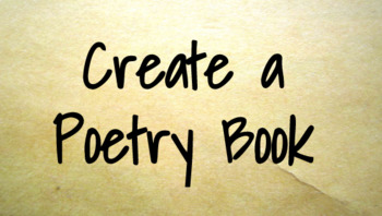 Create a Poetry Book