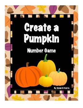 Halloween/Fall- Create a Pumpkin counting game