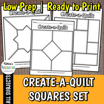 Create a Quilt Squares - 12 Different Designs for a Classroom Quilt Project
