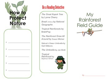 Create a Rainforest Field Guide Writing Center for The Great Kapok Tree