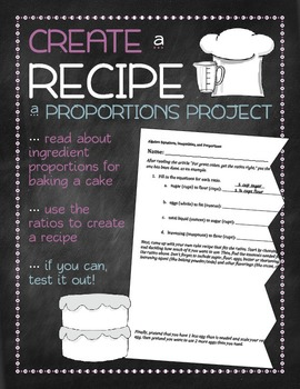 Create a Recipe: A Proportions Project!