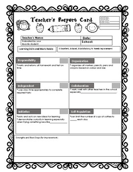 A Report Card for a teacher retirement gift or for a Teacher leaving school