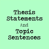 Create a Research Paper Outline - Includes Thesis Statements & Topic Sentences