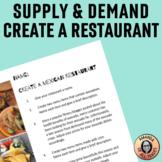 Create a Restaurant: Supply & Demand Practice or Assessmen