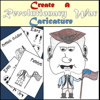 Revolutionary War - Create a Caricature - Mini Art Project