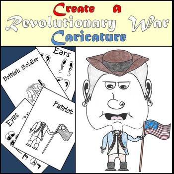 Revolutionary War - Create a Caricature - Mini Art Project