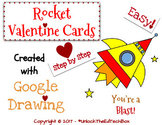Create a Rocket Valentine Card in Google Slides or Google Drawing Graphic Design