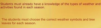 Create a SMART  Seasons and Weather book