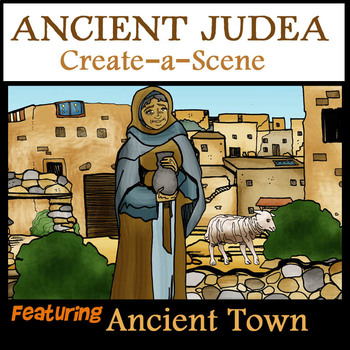 Create-a-Scene Ancient Judean / Biblical Town- 30 Pieces/ BW and Color