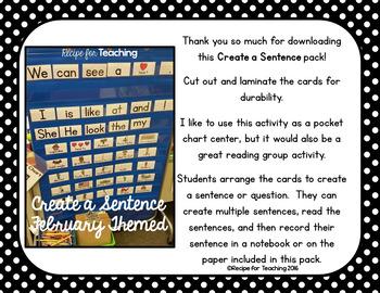 Create a Sentence (School Themed)