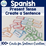 Create a Sentence Spanish Cards Present Tense