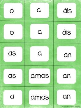 Create a Sentence Spanish Cards Present Tense