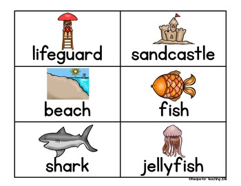 Create a Sentence (Summer Themed)