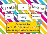 Creating Sentences for Early Learners - SMART Notebook