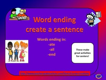 Create a Sentence with Word Endings