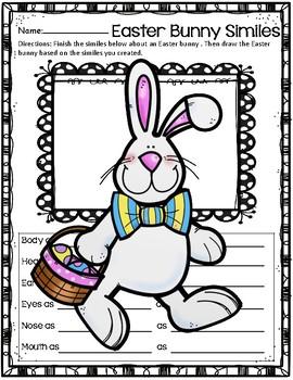 Create a Simile ~ Easter Bunny