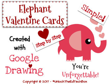 Create A Simple Elephant Valentine Card In Google Slides Or Google