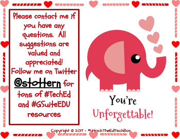 Create a Simple Elephant Valentine Card in Google Slides or Google Drawing