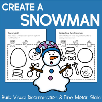Create a Snowman Activity: Build Fine Motor & Visual Discrimination Skills