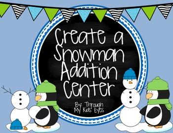 Create a Snowman Addition Center