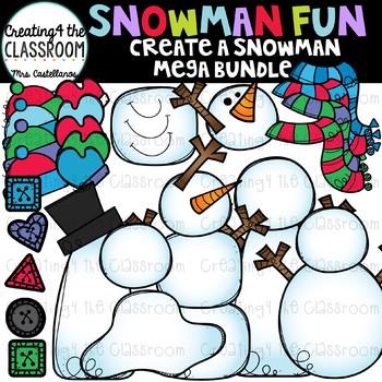 Create a Snowman Clip Art Mega Bundle {Build a Snowman Clip Art}