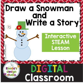 Create a Snowman and Write a Story STEM Activity