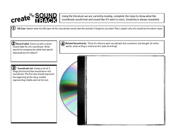Create a Soundtrack! Use with ANY type of literature