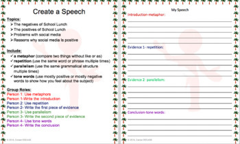 Create a Speech with Group Member Roles