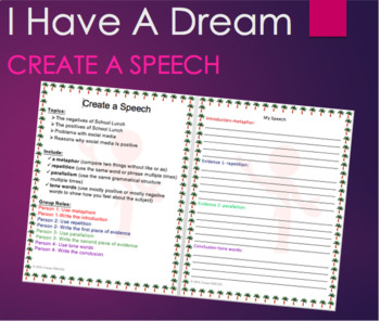 Create a Speech with Group Member Roles for Cooperative Learning and Rhetoric